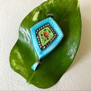 WOW! Vintage 1920's enamel & diamond pendant watch